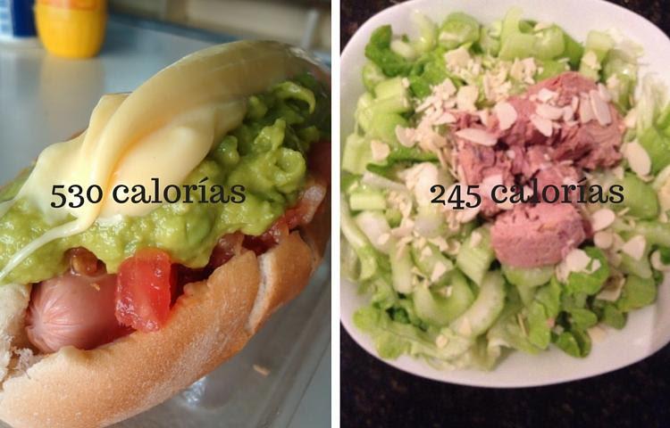 cena completo o ensalada
