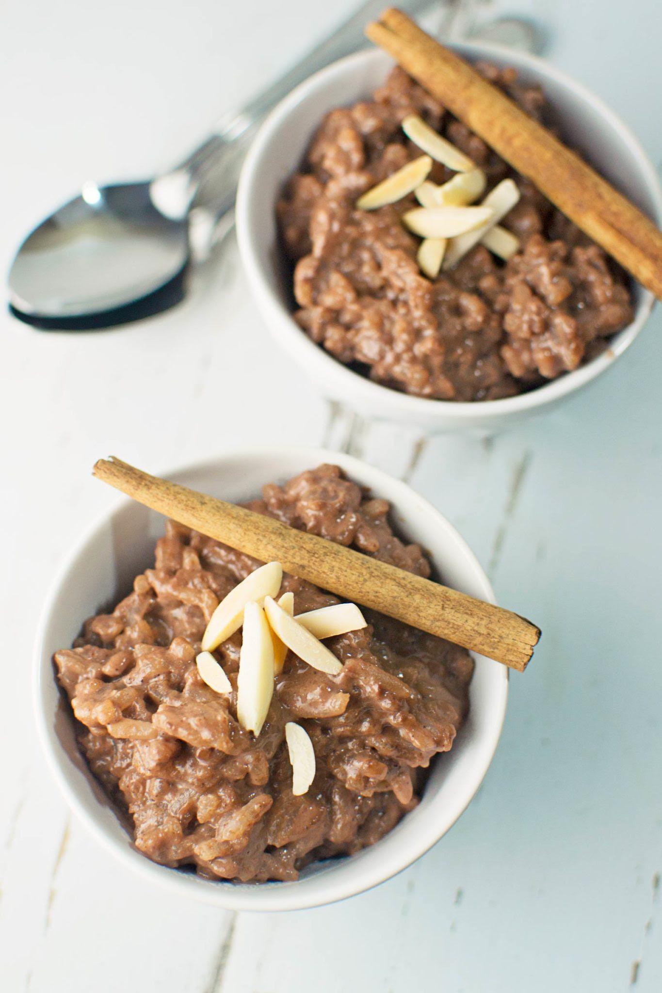 Chocolate Cinnamon Rice Pudding - Little Figgy Food