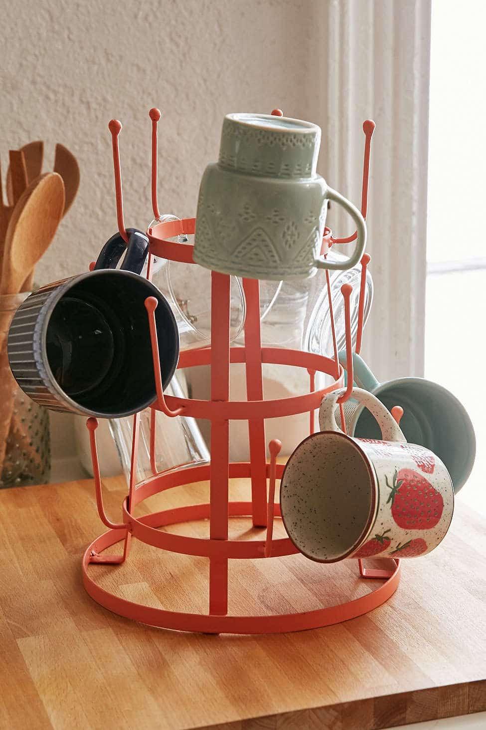 Mug Rack: Kitchen Coffee Station - The Inspired Room