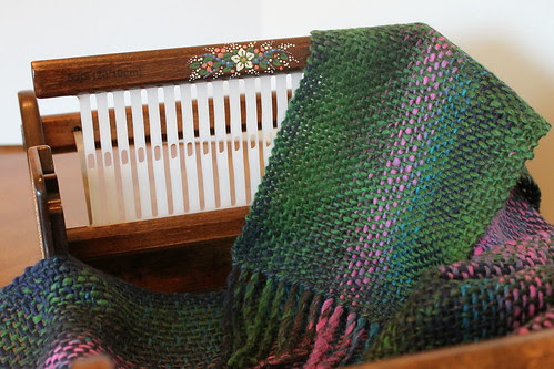 Aran yarn woven with the 5dpi heddle