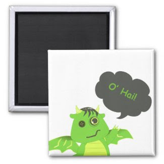 Cute Button Eyed Zombie Dragon Magnets
