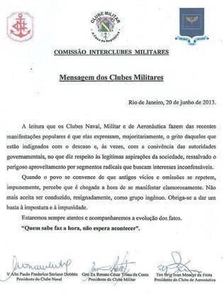 Militares citam música de Geraldo Vandré para apoiar manifestações pelo País