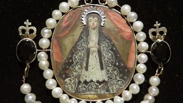 Medallón de la Dolorosa, una de las piezas que se estrenarán