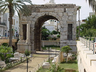 Roman Arch in downtown Tripoli, Libya