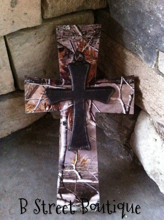 Real Tree Camo Wooden Wall Cross