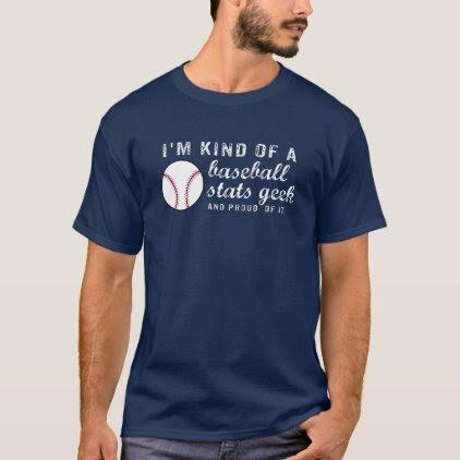 Funny Vintage Baseball Stats Geek Baseball Fan T-Shirt