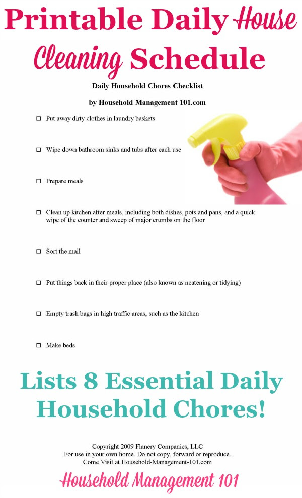 Daily House Cleaning Schedule: 8 Essential Daily Household Chores