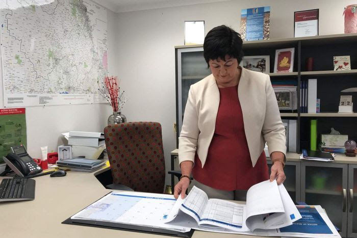 Isaac Regional Council mayor Anne Baker in her office