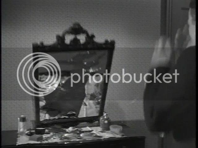 smashing a mirror