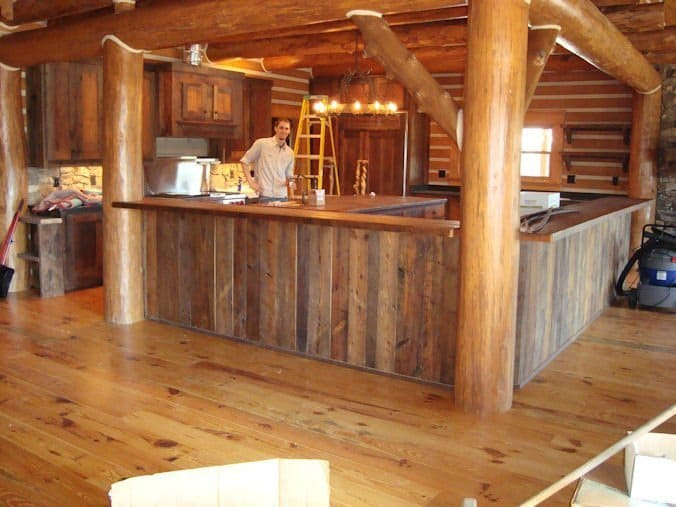 Old Barn Wood Kitchen Cabinets