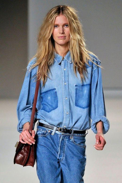 Le Fashion Blog 11 Ways To Wear Denim On Denim Inspiration Colorblock Jean Shirt Via Chloe photo Le-Fashion-Blog-11-Ways-To-Wear-Denim-On-Denim-Inspiration-Colorblock-Jean-Shirt-Via-Chloe.jpg