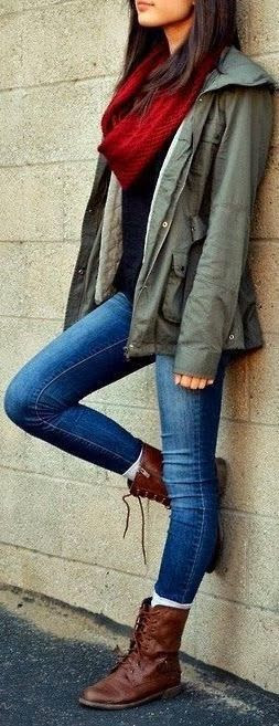 Womens Fashion coat jeans boots. I want this exact outfit for when it gets above 40 again. find more women fashion on www.misspool.com