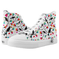 cute toucan bird tropical illustration printed shoes