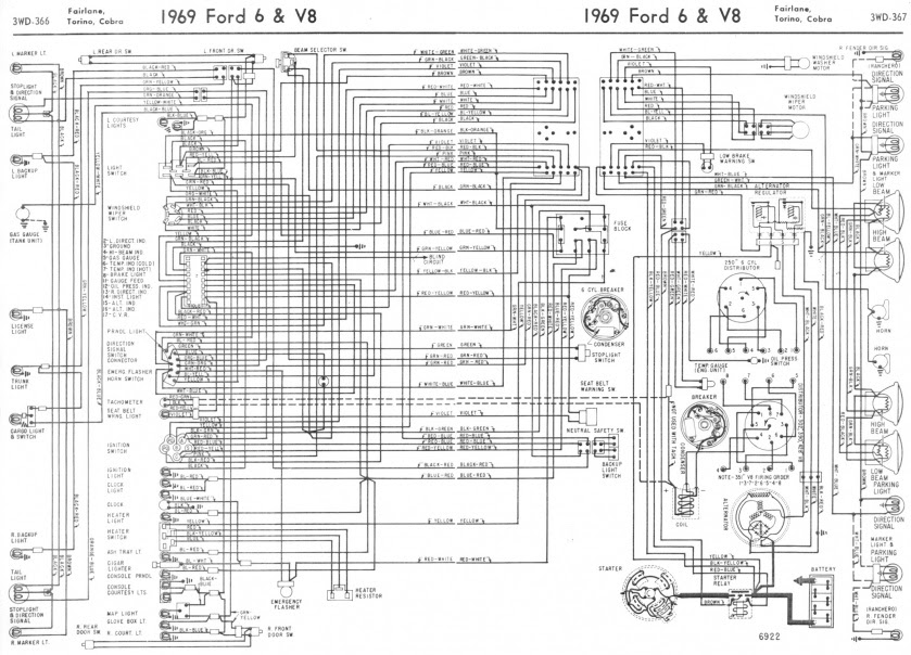 1969 Mustang Headlight Wiring Diagrams Bege Wiring Diagram