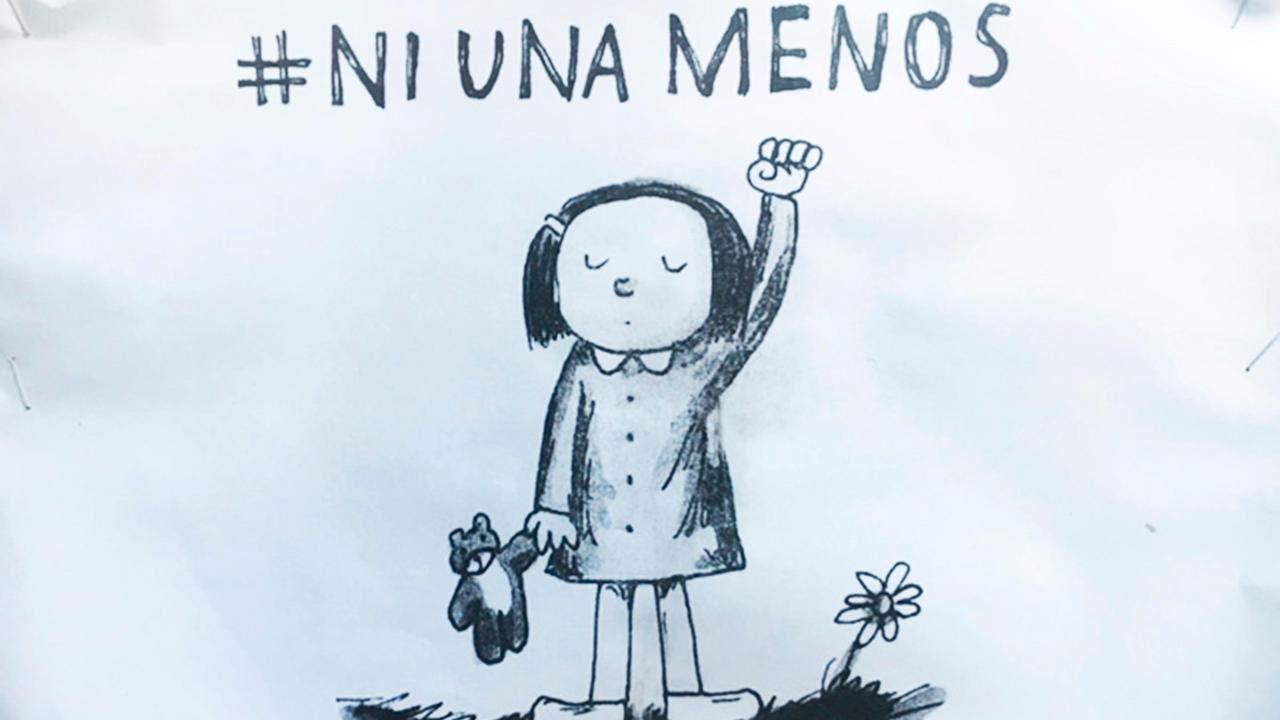 "Plakat der Bewegung ""Ni una menos"