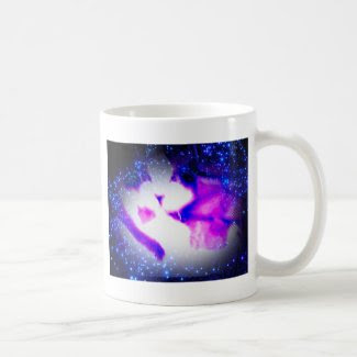 toxic purple kitty classic white coffee mug