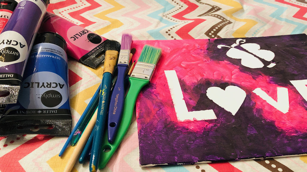 Valentines Day Canvas Painting Ideas For Kids Inspired
