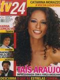 Atriz Taís Araújo na capa de uma revista de Angola