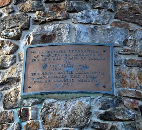 World War I Memorial Tower Plaque