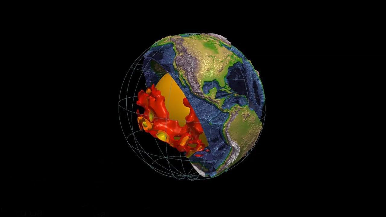 Descubren dos megaestructuras de 2.900 Km por debajo de la superficie de la Tierra