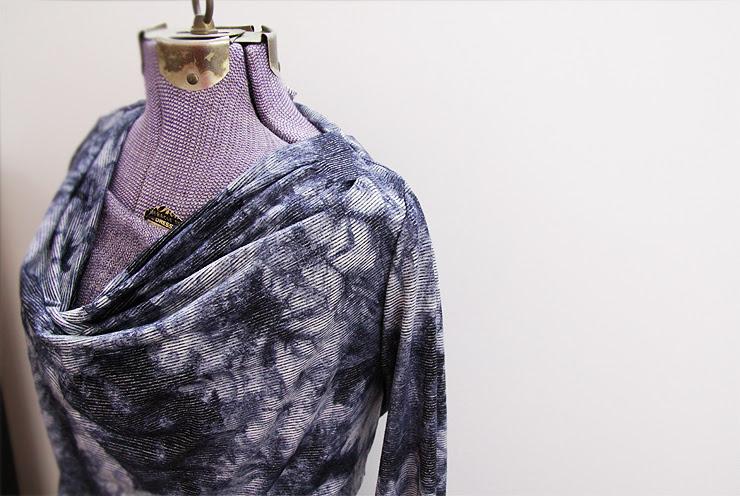 Blue Cowl Dress #2