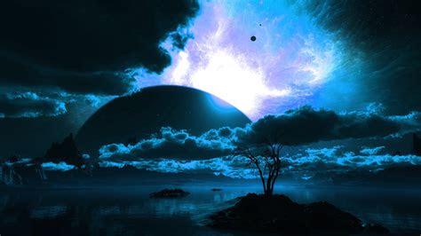 hd hintergrundbilder planet nacht landschaft wolken himmel