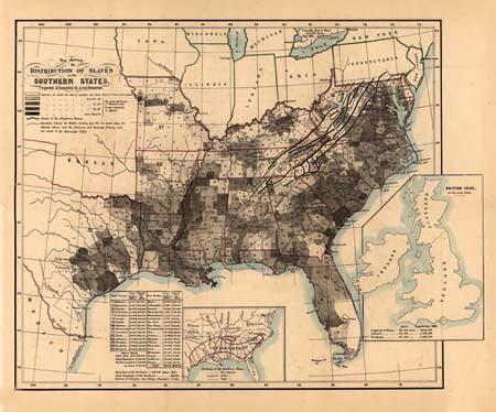 United States Slave Map