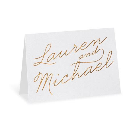 Exquisite Penmanship Foil Thank You Card   Invitations By Dawn