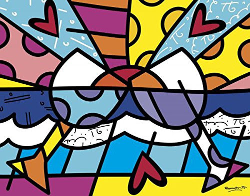 Cheers Abstract Poster Print by Romero Britto (28 x 26 in)