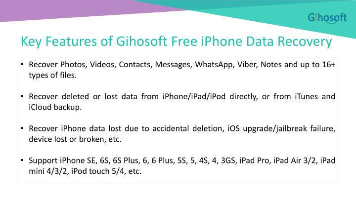 PPT  How to Recover Lost Data from iPhone\/iPad\/iPod Touch Free PowerPoint Presentation  ID:7365551