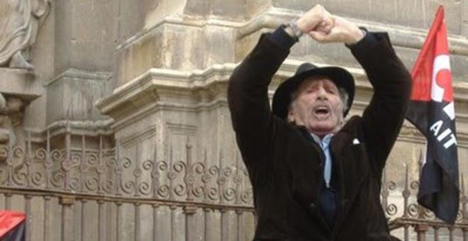 José Luis García Rúa, el primero de mayo de 2013 en Granada. / CNT