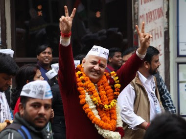 Manish Sisodia filed his nomination from Patparganj Assembly constituency on Thursday. Twitter@msisodia