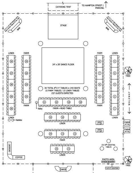 Floor plan for tent/barn wedding reception   Wedding