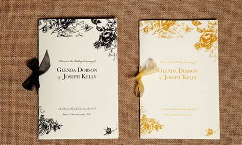 Blog   ceremony booklets   Wedding Stationery from