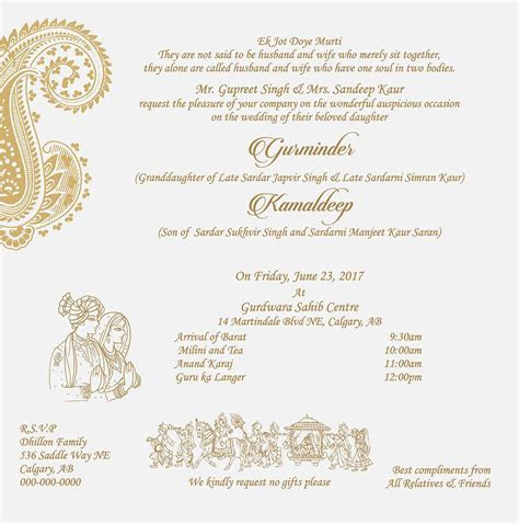 Pin on Sikh Wedding Ceremony Wordings
