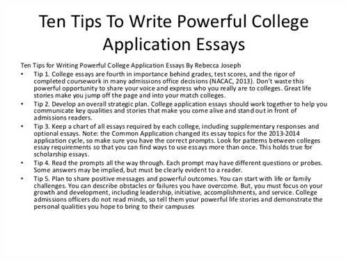 what to write a college essay on