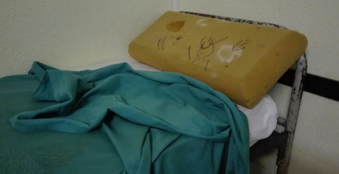 Estado de las instalaciones en las que han sido hacinados los guardias civiles. AUGC