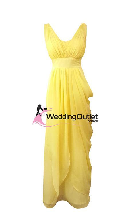 Yellow Bridesmaid Dresses   WeddingOutlet.com.au
