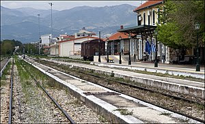 Komotini (Gümülcine), Greece. The train statio...