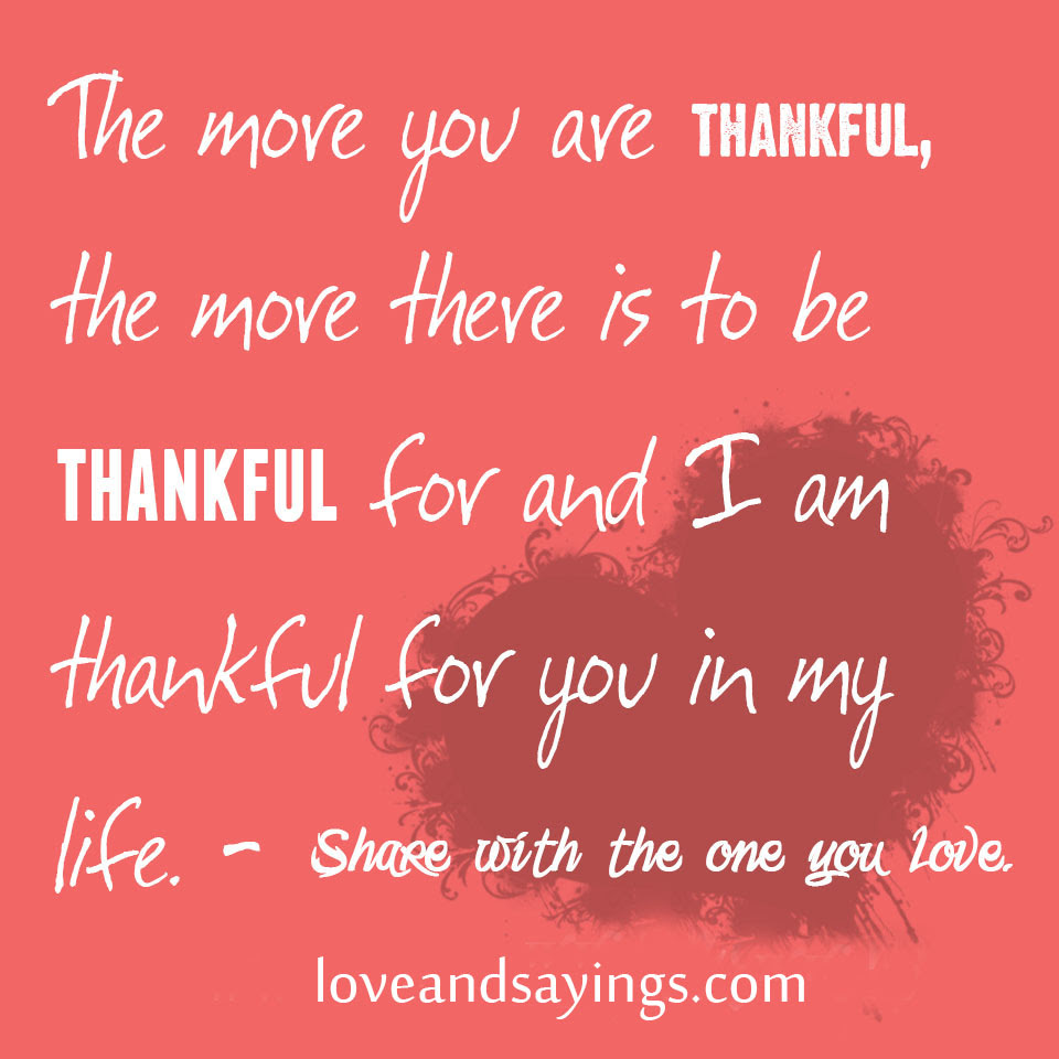 Quotes About Thankful For You 86 Quotes