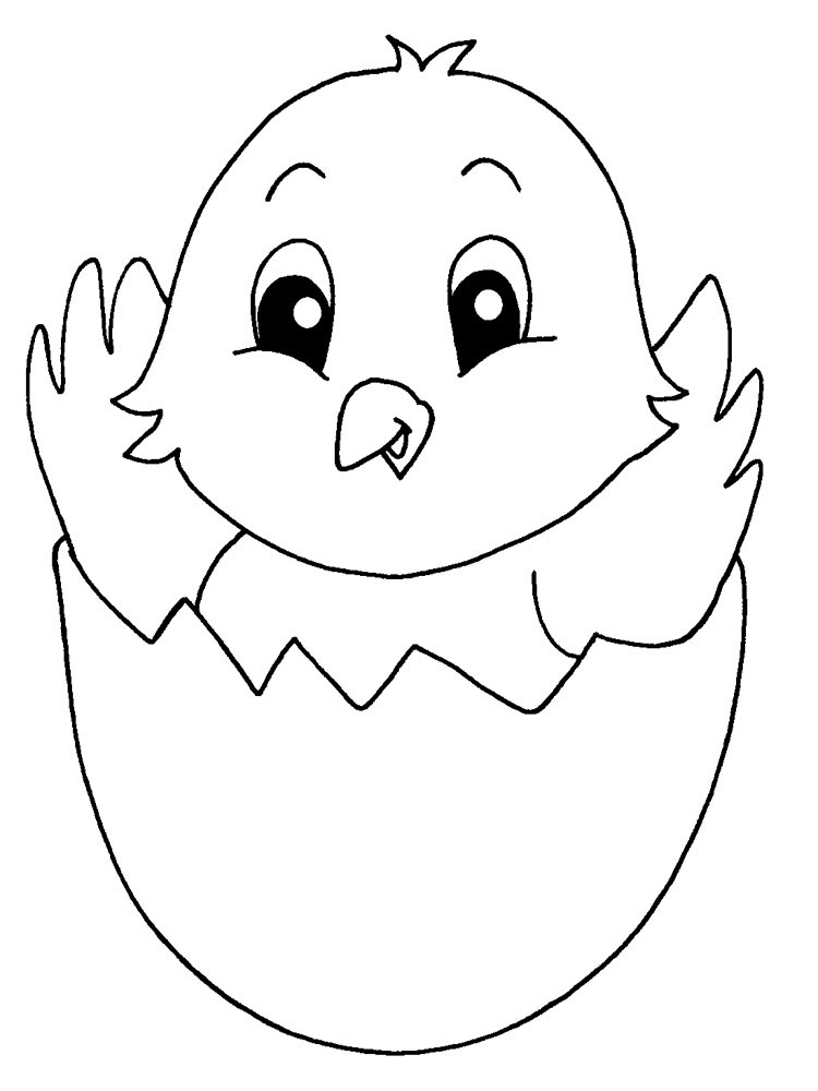 animals baby chick coloring pages 10
