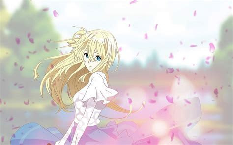 Desktop Wallpaper Violet Evergarden, Sad, Anime Girl