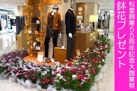 松菱創業55周年記念大創業祭 鉢花プレゼント