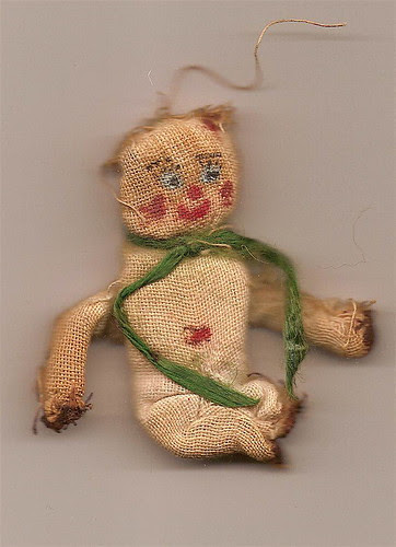 Hand-sewn bear