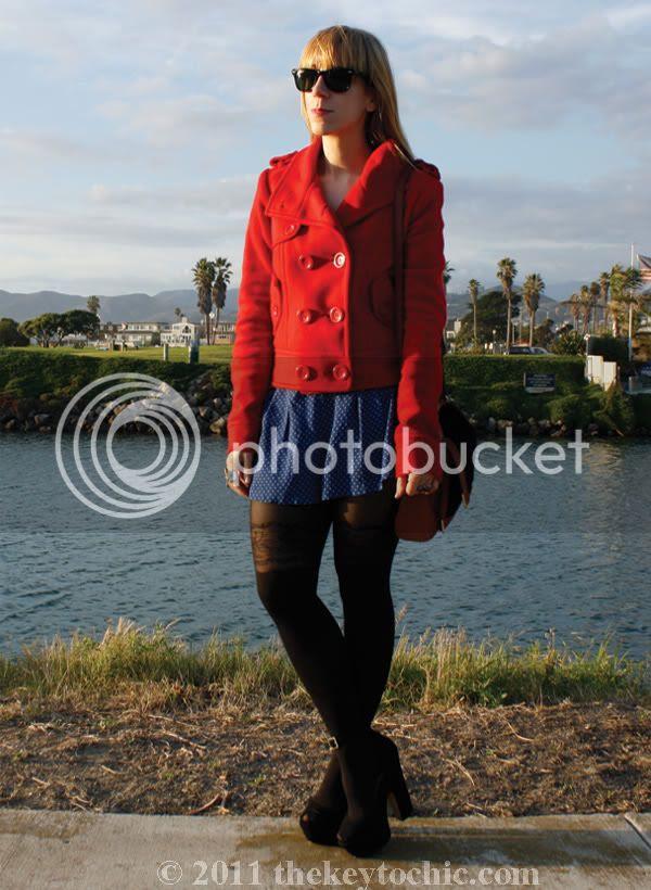 Daily Buzz Style polka dot 9x9, polka dot shorts, Forever 21 floral garter tights, Steve madden Grettta heels, Los Angeles fashion blog