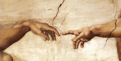 A Criação de Adão, c.1510 (detalhe) Impressão artística