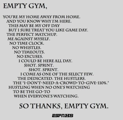 Youre My Home Away From Home So Thanks Empty Gym Cheating