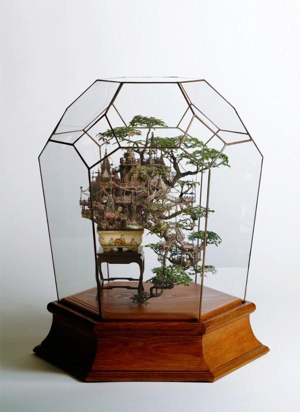 Bonsai Tree Houses by Takanori Aiba sculpture art