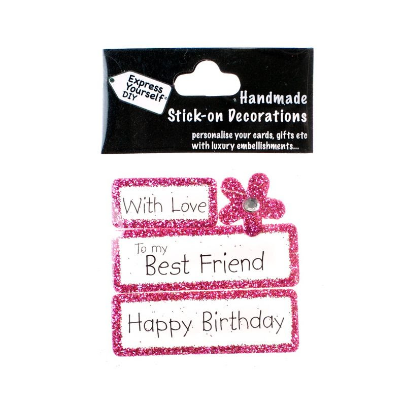 Handmade Stick On Captions Best Friend Express Yourself Diy