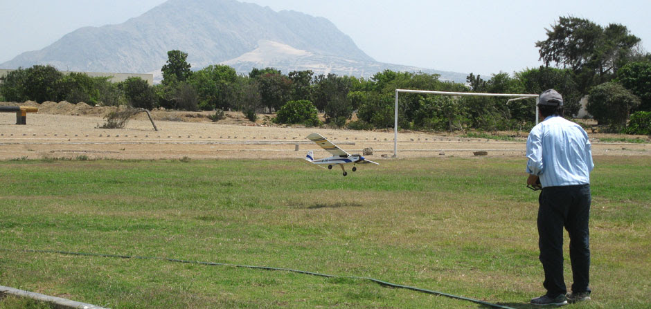 Landing at Trujillo airfield